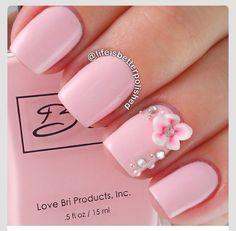 Pálido con rosa 3 D