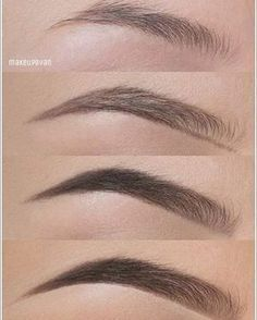 """Brow tutorials: """"In this picture I used @anastasiabeverlyhills brow wiz in medium brown to create the shape of my brow, brow powder in Ash brown to fill in the other edge and also a bit at the beginning. In the last pic I used some clear brow gel and concealer underneath the edges to make it look more neat"""""""
