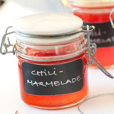 CHILIMARMELADE MED APPELSIN A Food, Food And Drink, Edible Gifts, Chili, Dip Recipes, Chutney, Food Styling, Food Inspiration, Brazil