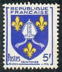 Armoiries de Saintonge Armoiries des provinces françaises (Septième série) - Timbre de 1954