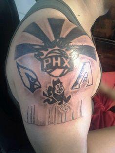 Suns tattoo, Arizona tattoo, Diamondbacks tattoo, Sun Devil Tattoo..Phoenix Tattoo..