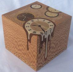 """Marquetry watch box,""""Running time""""; wooden watch box; inlaid wood box; watch storage; watch case; watch presentation box"""