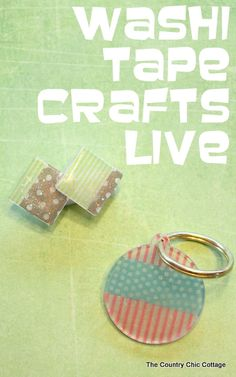 Washi Tape Crafts a LIVE video demonstration ~ * THE COUNTRY CHIC COTTAGE (DIY, Home Decor, Crafts, Farmhouse)