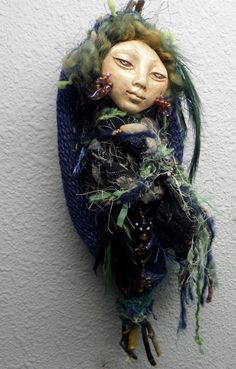 Raven Mother  Totem Spirit Art Doll assemblage mixed by awesomeart, $85.00