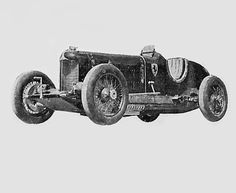In 1933, Ferrari buys Duesenberg an eight-cylinder 4250 cc 2 ACT.  Designed for oval tracks, it did not result in the race.