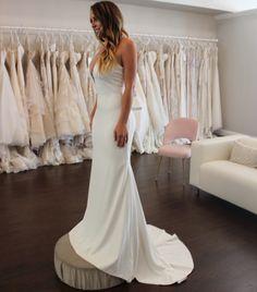 Wedding Dress Shopping at Malindy Elene in Tampa, FL: Theia 'Bruna' Wedding Dress Shopping, Wedding Dresses, Fashion, Bride Dresses, Moda, Bridal Gowns, Fashion Styles, Wedding Dressses