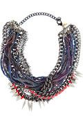 assad mounser chain and silk necklace