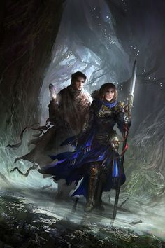 War of Broken Mirrors - Stealing Sorcery by theDURRRRIAN female fighter ranger spear wizard warlock sorcerer staff forest woods armor clothes clothing fashion player character npc | Create your own roleplaying game material w/ RPG Bard: www.rpgbard.com | Writing inspiration for Dungeons and Dragons DND D&D Pathfinder PFRPG Warhammer 40k Star Wars Shadowrun Call of Cthulhu Lord of the Rings LoTR + d20 fantasy science fiction scifi horror design | Not Trusty Sword art: click artwork for source