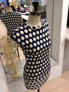 Polka dots dress, #workinprogress from our fashion atelier. #womensfashion #yokko