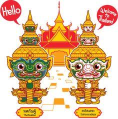 Ramakien Luggage Tag - Sahassadeja (ป้ายกระเป๋าเดินทางรามเกียรติ์ สหัส – HOLEN Thai Pattern, Thai Design, Thailand Elephants, Thailand Art, Thai Art, Thai Style, Illustrations And Posters, Asian Art, Book Design