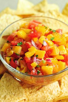 Peach Salsa Recipe  Mission:  meal under 400 calories for fast day in less than 20 minutes.  Preheated oven to 375 and cooked 4 3.5 oz pieces of cod about 6 minutes. (olive oil spray paprika and chile pepper)  great salsa with one tostada  the peppers add a lot