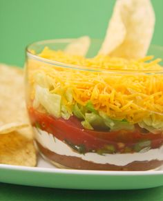 7-Layer Taco Dip - a great addition to your Superbowl spread!