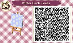Winter variation of circle grass Animal Crossing:New Leaf QR code. Requested by Ares@Copan