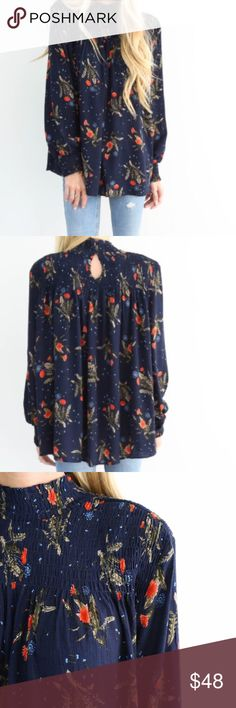 NWT Boutique Flower Top NWT Boutique Flower Top. This is the perfect top for Fall. Sizes S-M Tops Blouses