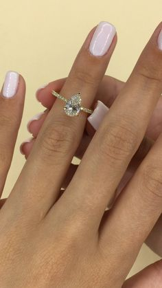 Yellow Engagement Rings, Pear Shaped Engagement Rings, Engagement Ring Shapes, Solitaire Diamond Engagement Ring, Wedding And Engagement Rings, Different Engagement Rings, Timeless Engagement Ring, Most Beautiful Engagement Rings, Popular Engagement Rings