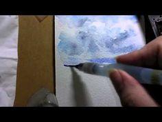 un ciel a l aquarelle - watercolor sky -  -True-painting -
