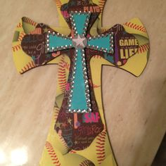 And another softball cross!  Kustom Krosses by Stephanie