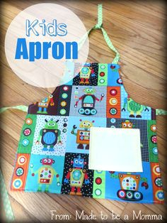 Diy Kids Apron - Made To Be A Momma