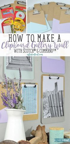 A Quick and easy DIY project; learn how to make a Clipboard Gallery Wall. #SpringCreations #ad | A Shade Of Teal