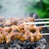 Шашлык из курицы с гранатовым маринадом – рецепт с фото