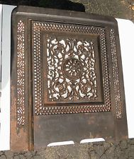 Cast Iron Fireplace Summer Cover Air Grate Register Arch Top 53 ...