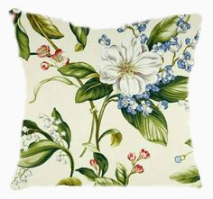 Decorative Cushion Cover Pillow Cover Designer Fabric Floral Print | tvkstyle - Housewares on ArtFire