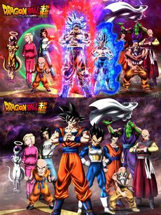 Team Universe 7 normal and full power recreation from manga