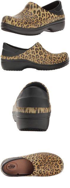 Occupational 53548: Crocs Neria Pro Leopard Women 7 8 9 10 11 Medical Nurse Shoe Slip-Resistant Nwt -> BUY IT NOW ONLY: $42.95 on eBay!