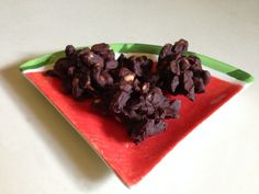 Easy/Quick Chocolate Covered Peanut Clusters  (1) 12 oz. bag of chocolate chips (1) 16 oz. container cocktail peanuts •Line baking sheets with parchment paper. •Melt chocolate chips over low heat while continuously stirring.   •Add peanuts in batches (you may not need the entire 16 oz of peanuts), stirring to coat until all melted chocolate is covering peanuts evenly.  •Drop by tablespoons on to baking sheets.   •Refrigerate until firm.   •Store in airtight container in frig.