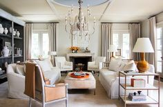 AT HOME IN ATLANTA- Part 2 - Mark D. Sikes: Chic People, Glamorous Places, Stylish Things - METAL LEG OTTOMAN