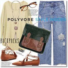 Rule School: Cool Backpacks by svijetlana on Polyvore featuring backpacks, contestentry and PVStyleInsiderContest