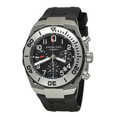 Men's Wrist Watches - Hamilton Khaki Navy Sub Auto Chrono Mens Automatic Watch H78716333 * For more information, visit image link.