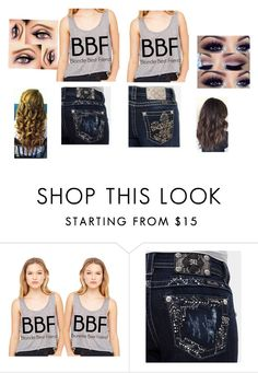 """""""Blonde best friend"""" by kystewart ❤ liked on Polyvore featuring Miss Me"""