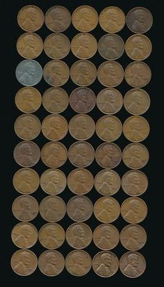 Lincoln Wheat Penny Set - 50 Different Dates & Mint Marks… Valuable Pennies, Rare Pennies, Valuable Coins, Silver Dollar Value, Penny Values, Old Coins Value, Steel Penny, Old Coins Worth Money, Canadian Coins