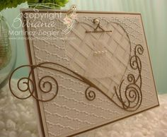 """By Bibiana, #memorybox card featured at my spanish blog for MB as a DTM """"quinceañera"""" card #technique used """"weaving"""" http://stampingwithbibiana.blogspot.com/"""