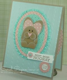 Stampin' Up!, Hip Notes, Really Good Greetings, punches, easter, birthday