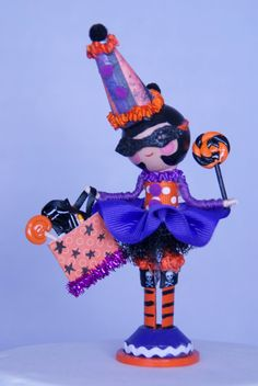 Halloween clothespin doll.