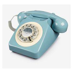 Téléphone vintage 746 classic French blue par Wild & Wolf