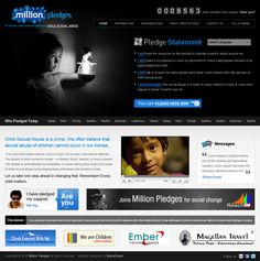 Millionpledges.com is a website illustrating the child sexual abuse taking place around the world. The vision is simple - to stop child abuse, create awareness... http://www.millionpledges.com/