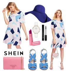 """Shein - Design Dress Casual Outfit!!"" by andrea27lobo ❤ liked on Polyvore featuring Kenneth Cole, Prada, Forever 21, Daniel Wellington and Lipstick Queen"