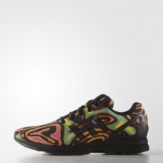 separation shoes 8e130 9285c adidas ZX Flux Tech Psychedelic Shoes - Black   adidas UK Black Adidas  Shoes, Black