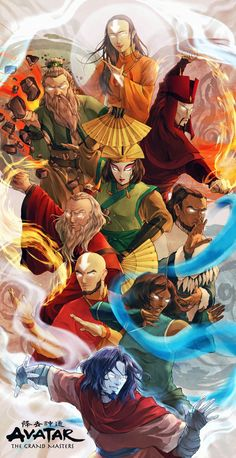 Avatar The Last Airbender & Legend of Korra Os Grandes Mestres by Botanicaxu Avatar Aang, Avatar Airbender, Avatar Foto, Avatar Legend Of Aang, Team Avatar, The Legend Of Korra, Fan Art, The Last Avatar, Arte Ninja