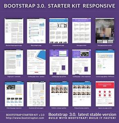Bootstrap 3.* starter KIT responsive by Bootstraptor on @creativemarket