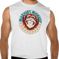 Marxist Monkey Sleeveless T-shirt Tank Tops