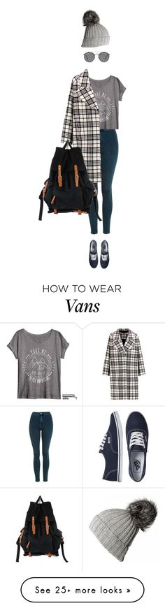 """""""Bez tytułu #378"""" by keluna on Polyvore featuring Topshop, Vans, Carven, Ray-Ban and Black"""