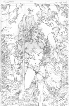 Ed Benes the Savage Land Shanna Rogue Storm , in Rod Lee's Ed Benes cover art, commissions, and pages gallery. Comic Art Gallery Room - 983297