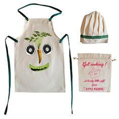 Veg Face Child's Apron And Chef Hat Set