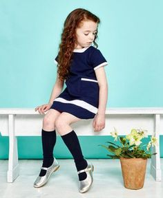 la coqueta navy dress