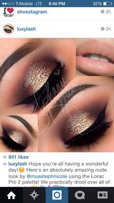 Another nice look with browns & gold