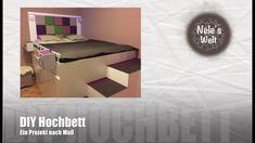 "Hochbett selber bauen, DIY Bett ""IKEA HACK"", by Nele & Robsi"